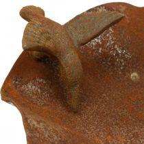 Decoratief vogelbad, roestvrijstalen voerbak, antiek vogelbad Ø28cm H74cm