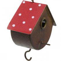 Decoratieve nestkast, vogelhuisje om op te hangen, herfst, vogelvoeder, metalen decoratie H14–12cm L34–37cm