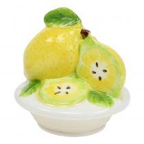 Voorraadpot met deksel van citroen 15,5 cm