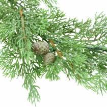 Decoratieve tak jeneverbes met kegels groen 110cm