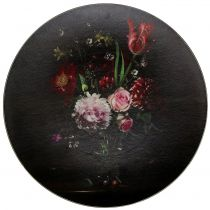 Wandbord met bloemmotief Ø33cm