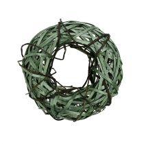 Rieten krans klein groen Ø28cm