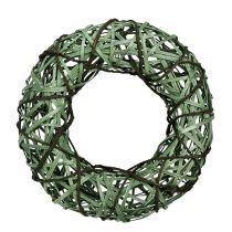 Rieten krans medium groen Ø33cm