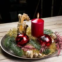 Kerstdecoratie figuur rendier hout 21cm