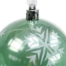 Kerstbal Ø8cm lichtgroen kunststof 1 st