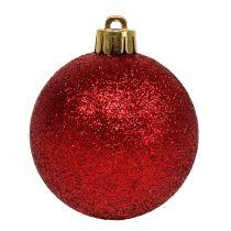 Kerstbalmix assorti rood Ø3.5cm - Ø5.5cm 30st