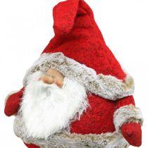 Kerstman rand kruk decoratief figuur kerst 28 × 22 × 88cm