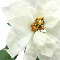 Poinsettia kunstbloem wit 67cm