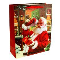 Kersttas met kerstman 32cm x26cm x10cm