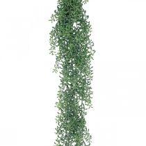 Groene plant hangende kunstmatig hangende plant met knoppen groen, wit 100cm