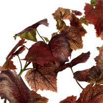 Wijnbladeren slinger donkerrood 190cm