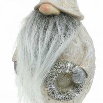 Decoratieve pixies met baard en krans Kerst pixies 14x × 12 × 36cm