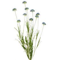 Weide bloemen blauw L65cm 3st