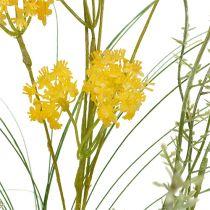 Weide bloemen geel L60cm 3st