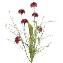Weide bloemen rood L60cm 3st