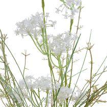 Tuinbloemen wit L50cm 3st