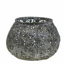 Lantaarn Orient Antiek Zilver Ø13cm H9,5cm