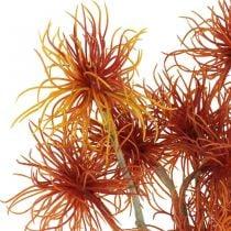 Xanthium kunstbloem herfstdecoratie oranje 6 bloemen 80cm 3st