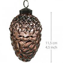 Kegels om op te hangen, boomversieringen, echt glas, herfstdecoraties, antieke optiek Ø7cm H11,5cm 6st
