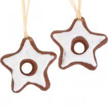 Kerstboomversiering kaneelsterren decoratie ster plastic 5cm 24st