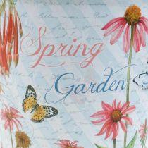 Bloempot metaal bloemen lente decoratie plantenbak Ø15cm H15.5cm