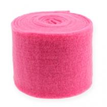 Vilt lint roze 15cm 5m