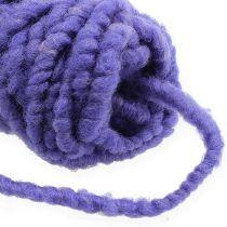 Vilten koordfleece Mirabell 25m violet