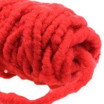 Vilten koordfleece Mirabell 25m rood