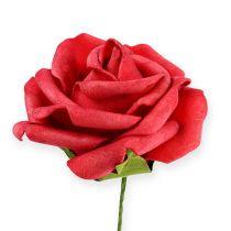 Foam-Rose Ø6cm rood 27st