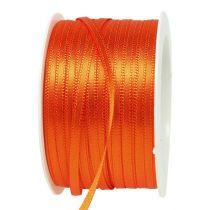Geschenk- en decoratielint 3 mm 50 m oranje
