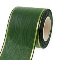 Kransband donkergroen 75mm 25m