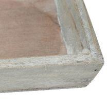 Houten dienblad grijs 57cm x 17cm