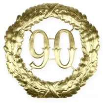 Verjaardag nummer 90 in goud Ø40cm