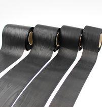 Krans lint zwart vers. Breedte 25m