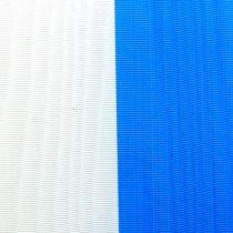 Kranslinten moiré blauw-wit