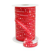 "Lint Rood ""Merry Christmas"" B10mm 150m"