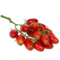 Kunstmatige pluim tomaten rood op de tak 22cm