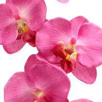 Kunstmatige orchidee met bladeren roze 68cm