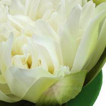 Kunstmatige lotusbloem creme 13cm 4st