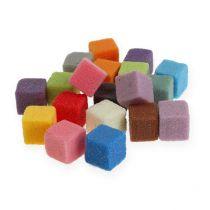 Nat steekschuim mini-kubus gekleurd 300st