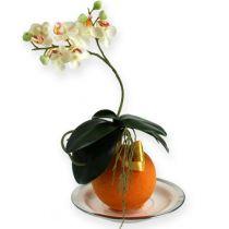 Florale schuimballen oranje 9cm 4st