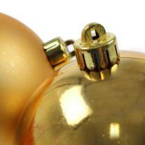 Kerstbal goud 10cm 4st