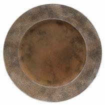 Sierbord van kunststof met roesteffect Ø33cm