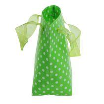 Draagtas groen, wit 31cm 5st