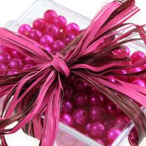 Raffia lint bicolor roze-bruin 200m