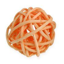 Rotan bal oranje, abrikoos, gebleekt 72st