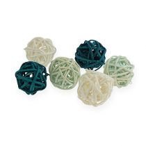 Rotan bal kleurenmix Ø2cm - 2.5cm 72st