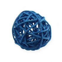 Rotan bal lichtblauw, blauw, donkerblauw 30st.