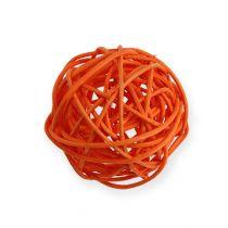 Rotan ballen Ø4,5cm oranje assorti 30st