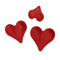 Strooi decoratie harten rood 5-8mm 1000st